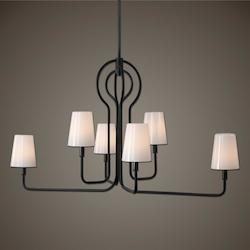 Articulo 6 Light Black Iron Chandelier - 297881