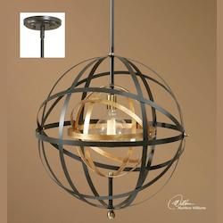 One Light Bronze Down Pendant - 297884