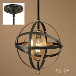 One Light Bronze Down Mini Pendant - 297885