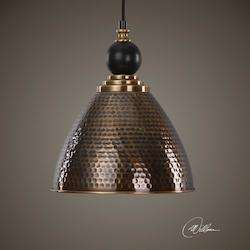 Adastra 1 Light Antique Brass Pendant - 297891