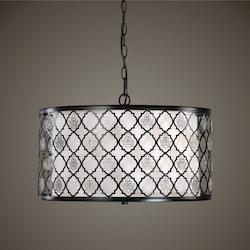Filigree 3 Light Drum Pendant - 297901