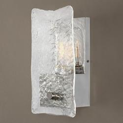 Cheminee 1 Light Textured Glass Sconce - 297911