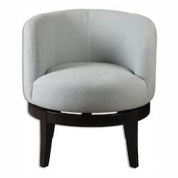 Uttermost Aurick Gray Swivel Chair - 297916