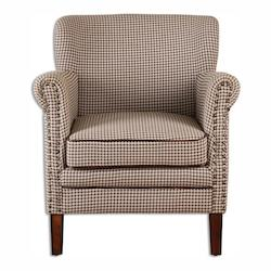Uttermost Tinsley Hounds-Tooth Club Chair - 297927