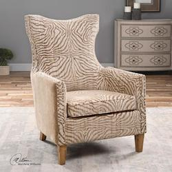 Kiango Animal Pattern Armchair - 297930