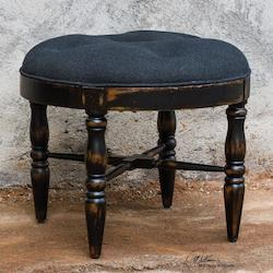 Chione Black Small Stool - 297949