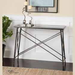 Collier Black Glass Console Table - 297970