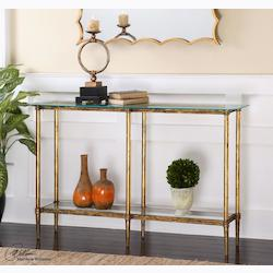 Elenio Glass Console Table - 297971
