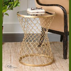 Naeva Gold End Table - 297972
