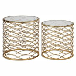 Uttermost Zoa Gold Accent Tables Set/2 - 297973