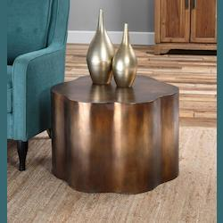 Sameya Oxidized Copper Accent Table - 297982