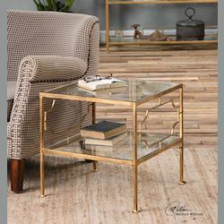 Genell Gold Cube Table - 298008
