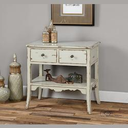 Varali Pale Gray Accent Table - 298021
