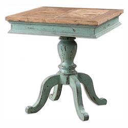 Uttermost Keyton Pedestal Accent Table - 298023