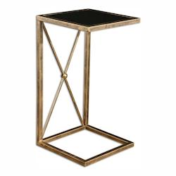 Uttermost Zafina Gold Side Table - 298041