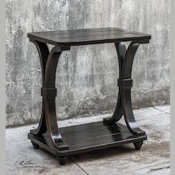 Jomei Rubbed Black Accent Table - 298050