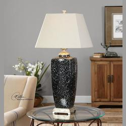 Barzana Gloss Black Table Lamp - 298118