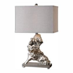 Uttermost Rilletta Metallic Silver Table Lamp - 298128