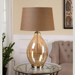 Bartolomeo Amber Glass Table Lamp