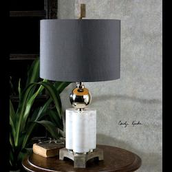 Dantoni White Alabaster Table Lamp