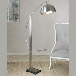 Malcolm Brushed Nickel Floor Lamp - 298178
