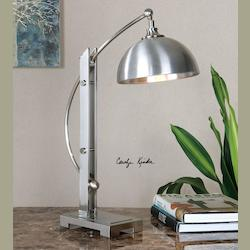 Malcolm Brushed Nickel Desk Lamp - 298198