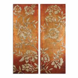 Uttermost Chalk Florals Hand Painted Art, S/2 - 298231