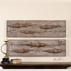 On The Dock Wall Art S/2 - 298237