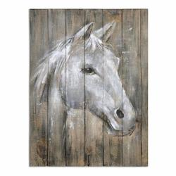 Uttermost Dreamhorse Hand Painted Art - 298243