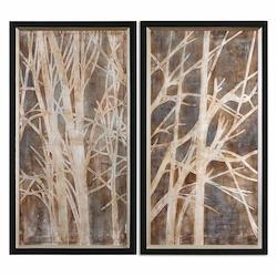 Uttermost Twigs Hand Painted Art, S/2 - 298251