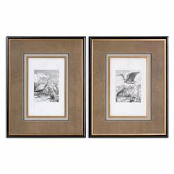 Canvas Antique Birds 29in. x 23in. Canvas Wall Art