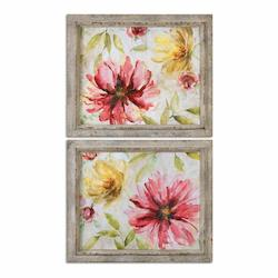 Uttermost Morning Petals Floral Art, S/2 - 298263