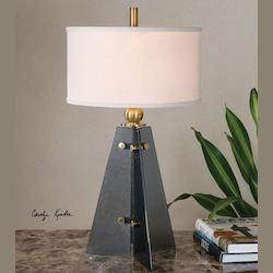 Everly Smoke Glass Table Lamp - 298270