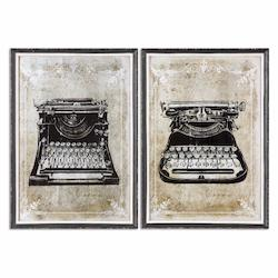 Uttermost Classic Typewriters Vintage Art, S/2 - 298274
