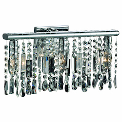 Crystal Fusion Design 3 Light 18'' Wall Sconce with European Crystals SKU# 85001