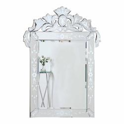 Clear Mirror 28in. Wide Mirror from the Venetian Collection