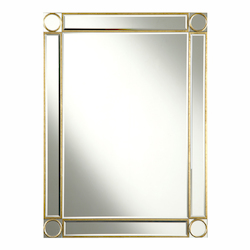 Gold / Clear Mirror 30in. Wide Mirror from the Audrey Collection
