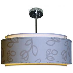 Bronze Drum Shade Pendant - 321778