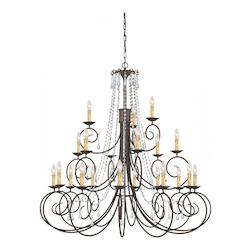 Soho 21 Light Clear Swarovski Crystal Chandelier