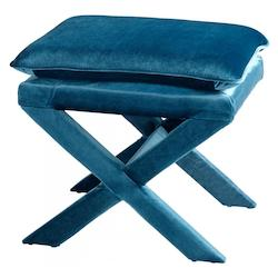 Blue Otto 19.5 Inch Tall Wood and Foam Stool
