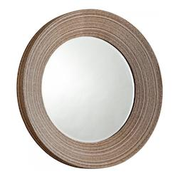 Ebony 7 Inch Diameter Lucas Wood Mirror