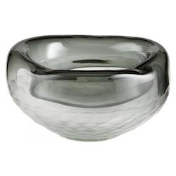 Grey Oscuro 10.25 Inch Diameter Glass Decorative Bowl