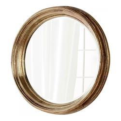 Gold 7 Inch Diameter Mint Wood Mirror Made in India