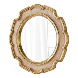 Gold 7 Inch Diameter Antonin Wood Mirror Made in India