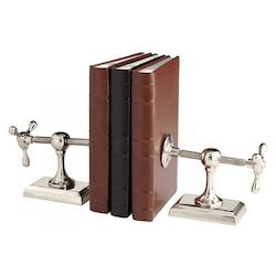 Nickel 8 Inch Tall Hot and Cold Bookends