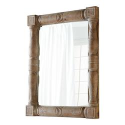 Burnt White 56.75 x 44 Bohemia Square Wood Frame Mirror