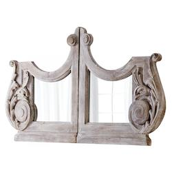 Washed Antiqued Grey 50.25 x 83 Bastille Specialty Wood Frame Mirror