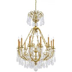 Twelve Light Chandelier with French Gold finish