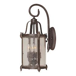 Four Light Bronze Wall Lantern