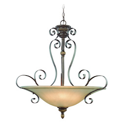 4 Light Inverted Pendant - 343811